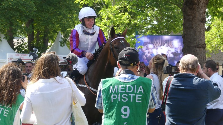 Laurens is the centre of attention after securing a sixth success at Group 1 level in the Prix Rothschild at Deauville