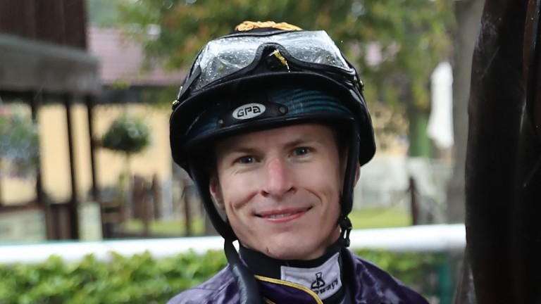 Richard Kingscote: gets the plum ride back on board Great Ambassador in the Ayr Gold Cup