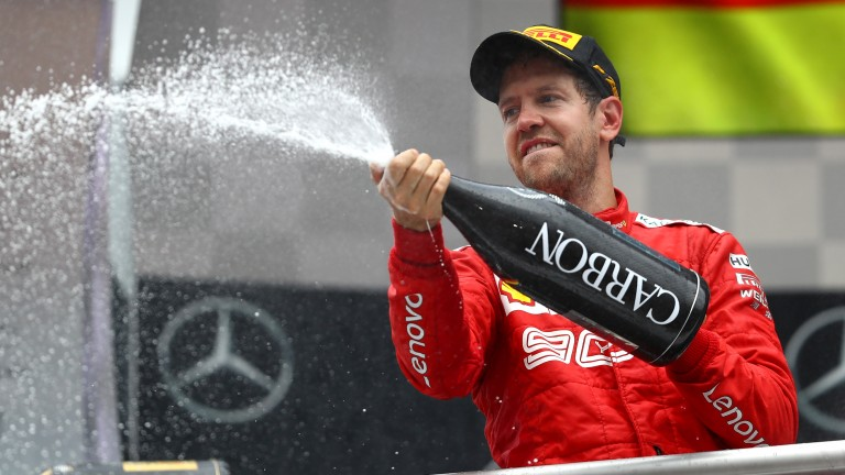 A smile on the face of Sebastian Vettel has been a rare sight over the last 12 months