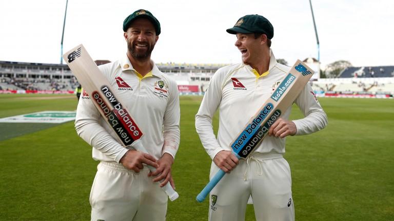 Matthew Wade (left) and Steve Smith scored centuries in Australia's win at Edgbaston