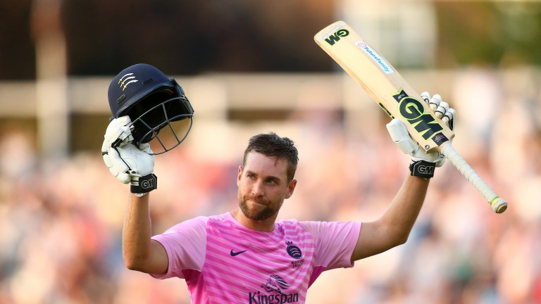 Middlesex's Dawid Malan smashed 117 against Surrey at The Oval