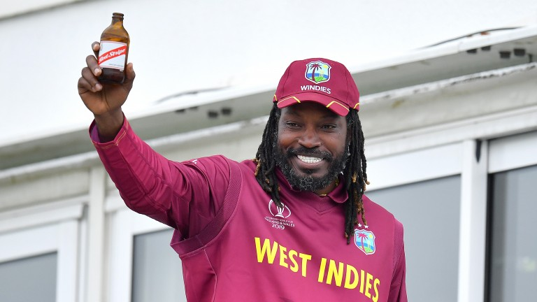 Chris Gayle hasn't had much recent success to toast against India