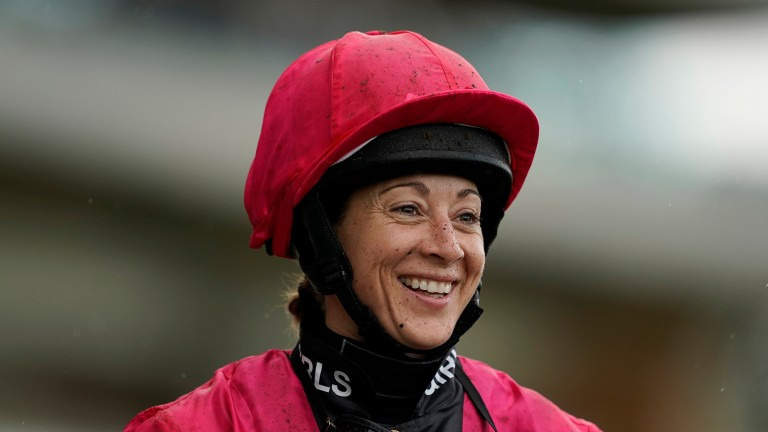 All smiles: Hayley Turner delighted after another Shergar Cup success story