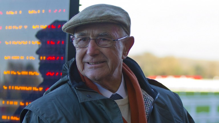 Bookmaker Colin Webster on the rails at Ascot