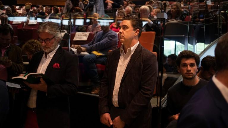 Justin Casse surveys the scene inside the ring