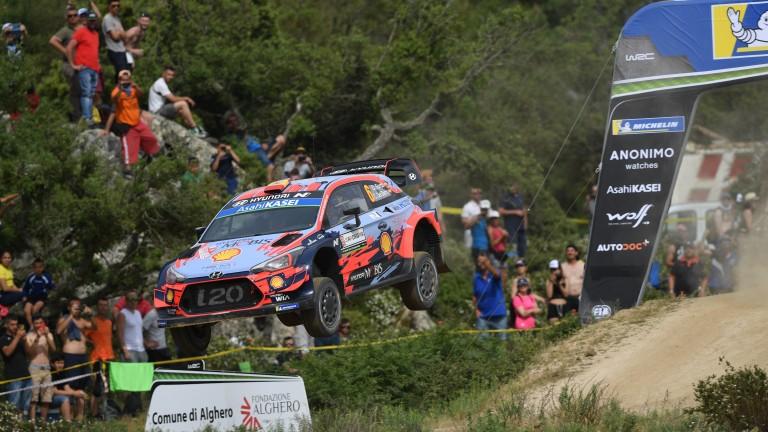 Dani Sordo won the Rally of Sardinia for Hyundai in June
