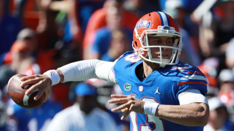 Florida Gators quarterback Feleipe Franks