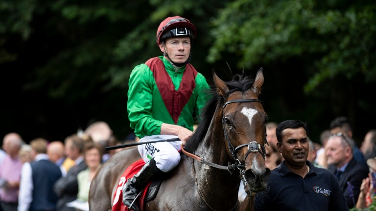 Jamie Spencer on Spanish Mission after winning at Newmarket this season