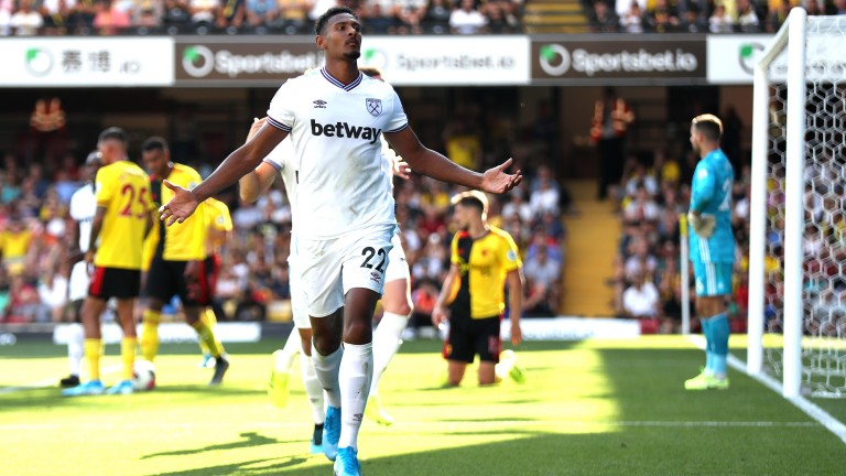 Sebastien Haller opened his account for West Ham against Watford in the Premier League