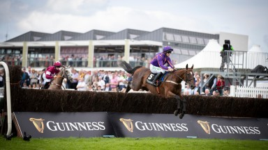 Wicklow Brave and Paul Townend win the Guinness Open Gate Bravery Novice Chase (Grade 3) by 6 lengths from Jan Maat.Galway.Photo: Patrick McCann/Racing Post 01.08.2019
