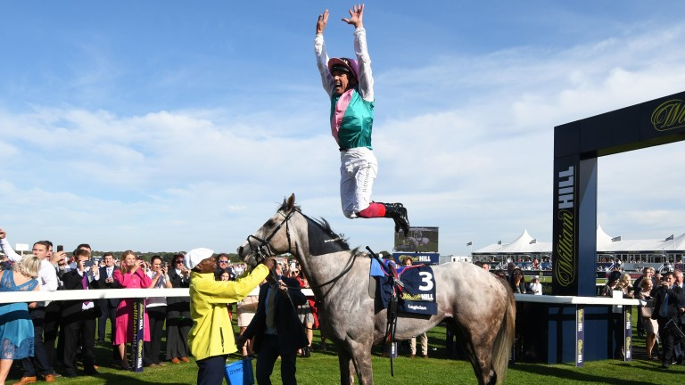 Logician: maintained his unbeaten sequence with victory in the St Leger