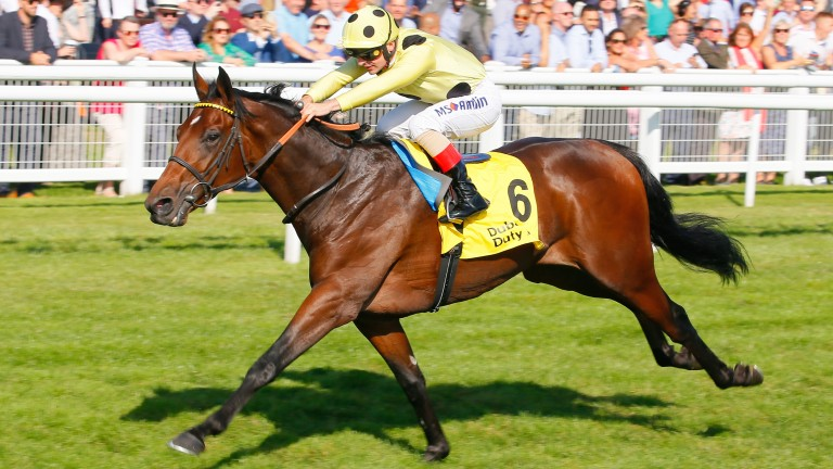 Pierre Lapin: doing his best work at the finish of the Mill Reef Stakes