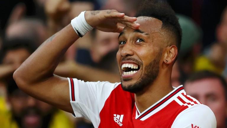 Pierre-Emerick Aubameyang's Arsenal have won their last four games