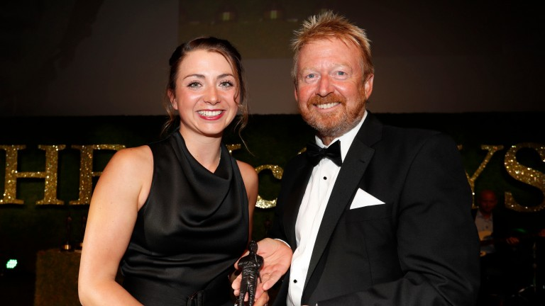 Bryony Frost at The McCoys last year where she won the leading conditional award