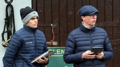 Donnacha O'Brien (left): has his first runners as a trainer at Dundalk on Friday