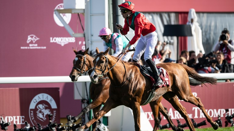Waldgeist: his finest hour came when defeating Enable in the Arc