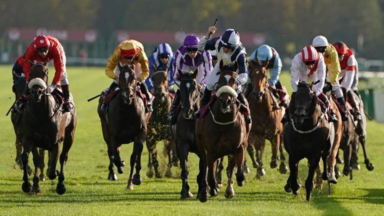 Tom Eaves knows he's got it as Glass Slipper wins the Abbaye