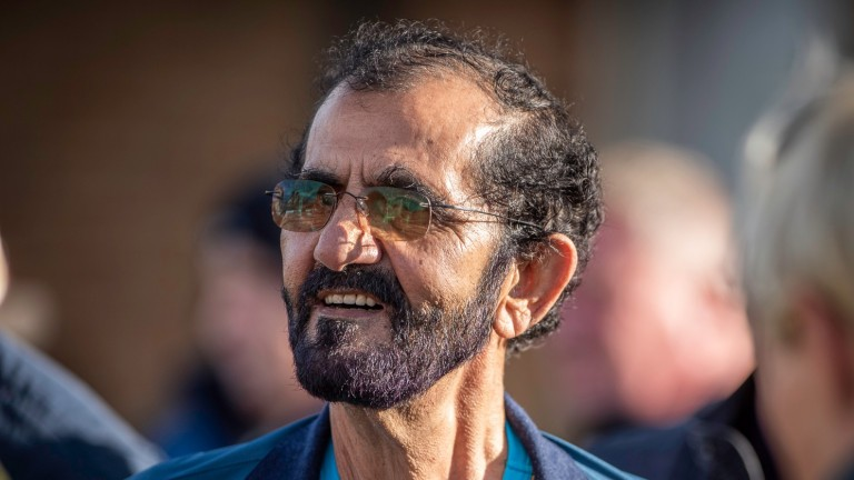 Sheikh Mohammed on the Tattersalls sales ground on Wednesday