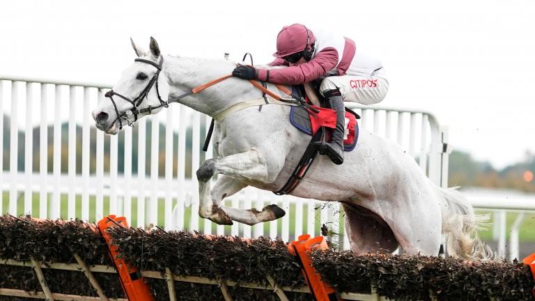 Silver Streak: seeking back-to-back victories in Kempton's feature hurdle