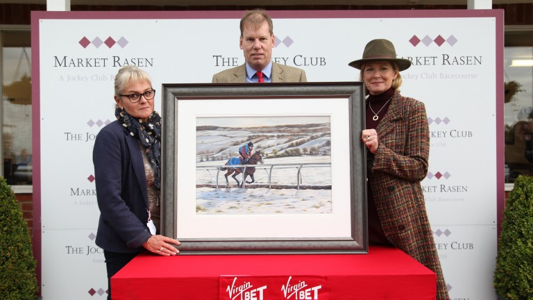 The painting will be auctioned at Aintree next April