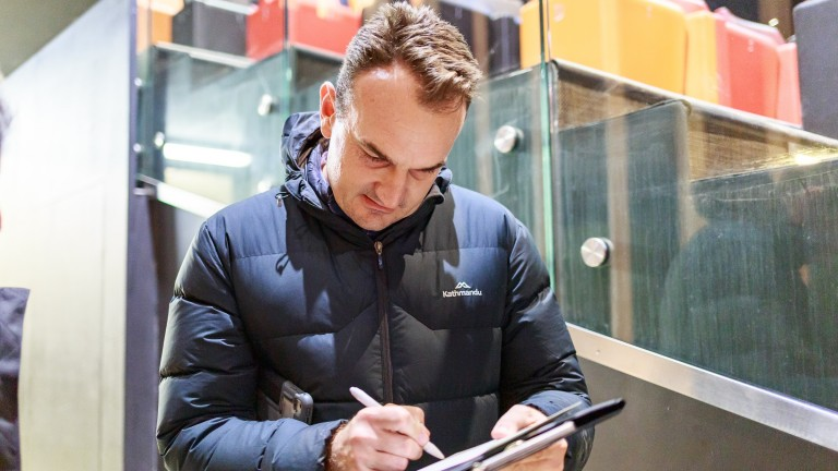 Mathew Becker of Australian syndicate management company Group One Bloodstock signed for a son of Camelot at Arqana on Wednesday