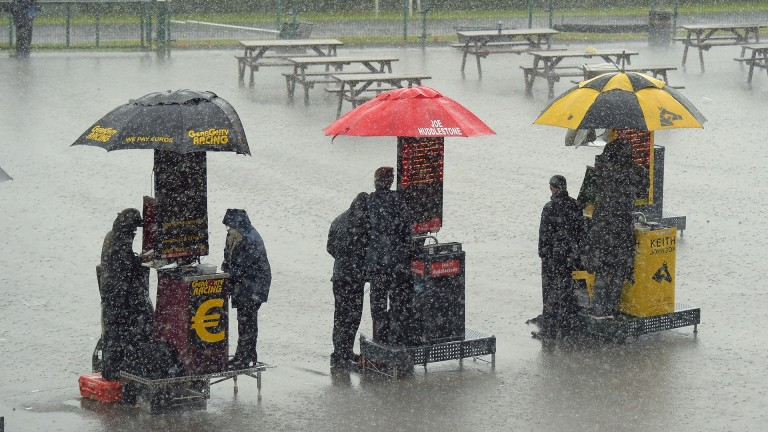 Doncaster: lashed by rain again