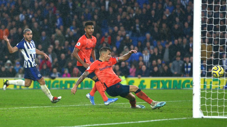 An own goal from Everton's Lucas Digne sealed Brighton's 3-2 win at the Amex