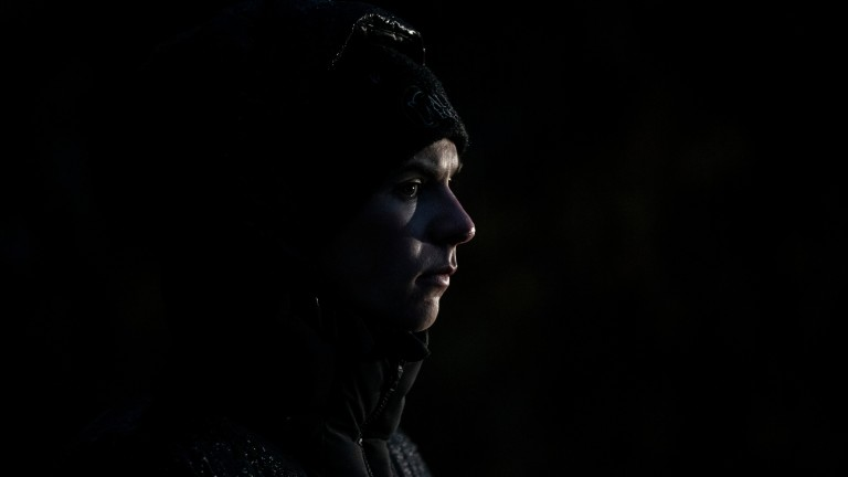 Eagle-eyed: Joseph O'Brien observes his string in morning darkness