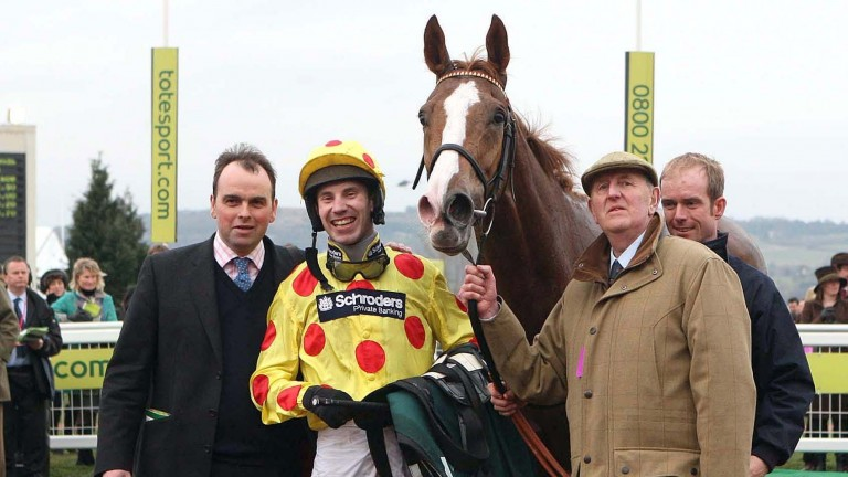 Oh Crick and Wayne Hutchinson after winning the Grand Annual