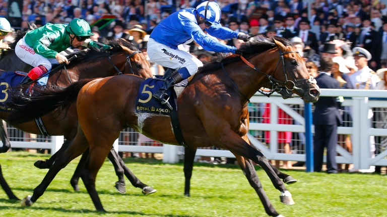 Eqtidaar powers to victory in the 2018 running of the Group 1 Commonwealth Cup