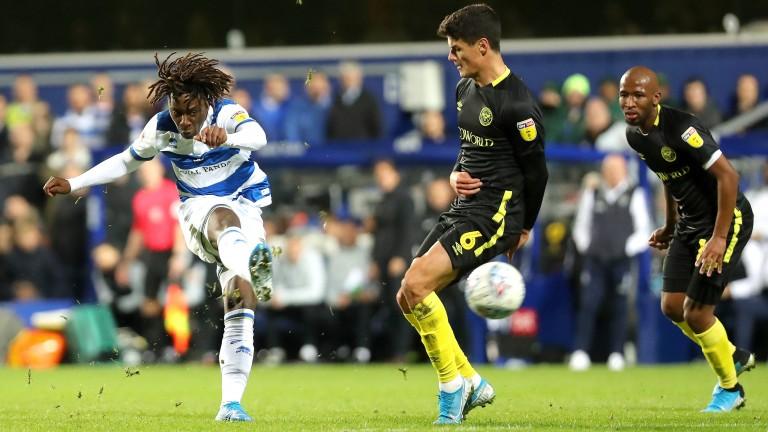 QPR forward Eberechi Eze takes aim against Brentford