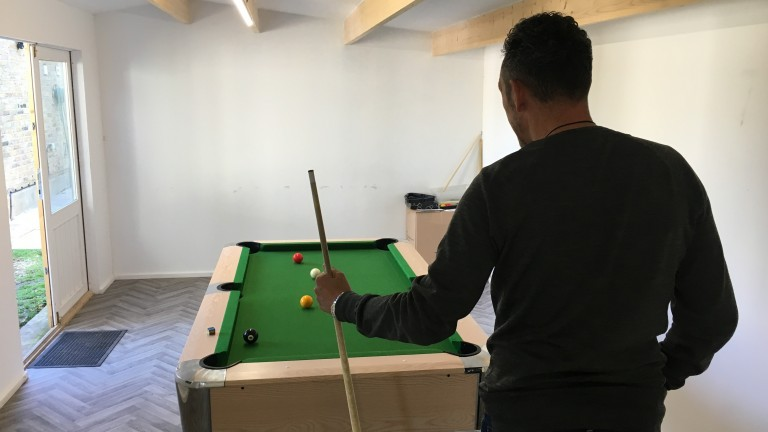 The intensive therapy at Gordon Moody House in south London is relieved by a pool session in the games room
