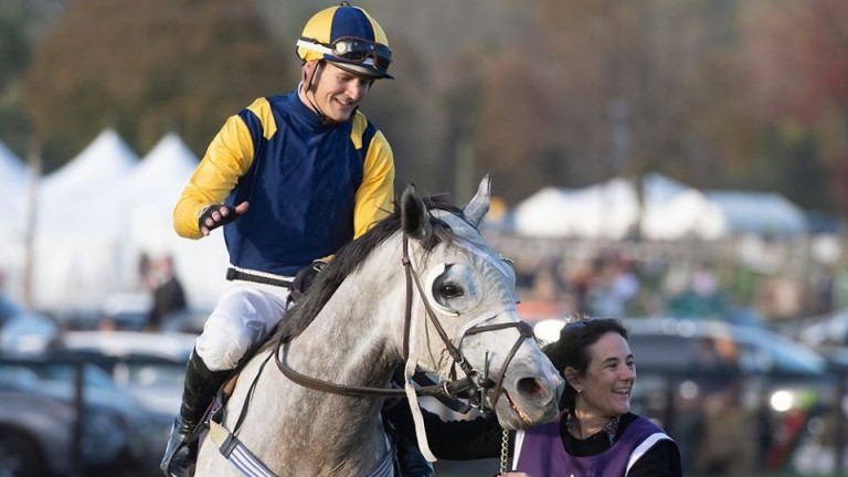 Michael Mitchell and Pik Em after winning at Far Hills, New Jersey, this year