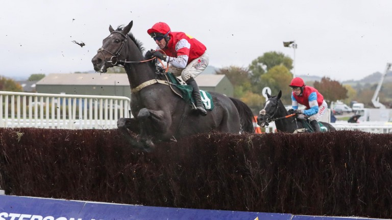 Slate House and Robbie Power in winning action at Cheltenham's Showcase meeting last month