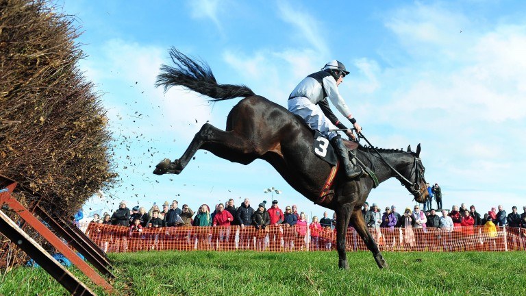 Ballyadam clears the last en route to victory at Portrush