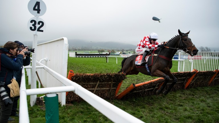 Hang In There clears the last at Cheltenham earlier this season