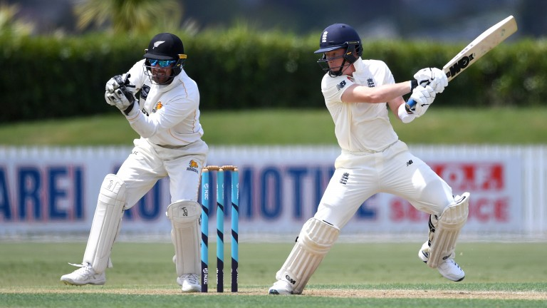 Ollie Pope made a pleasing 88 in England's second warm-up game in Whangarei