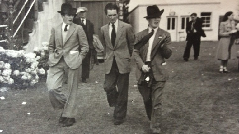 Martin Molony (right) pictured with his brother Tim (left) and Vincent O'Brien