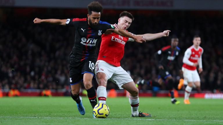 Kieran Tierney (right) has struggled to make an impression at Arsenal