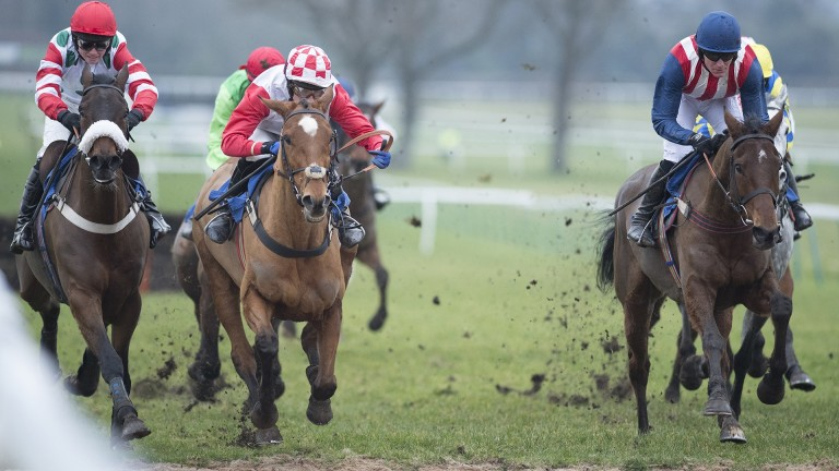 De Rasher Counter (right) is on target for the Ladbrokes Trophy