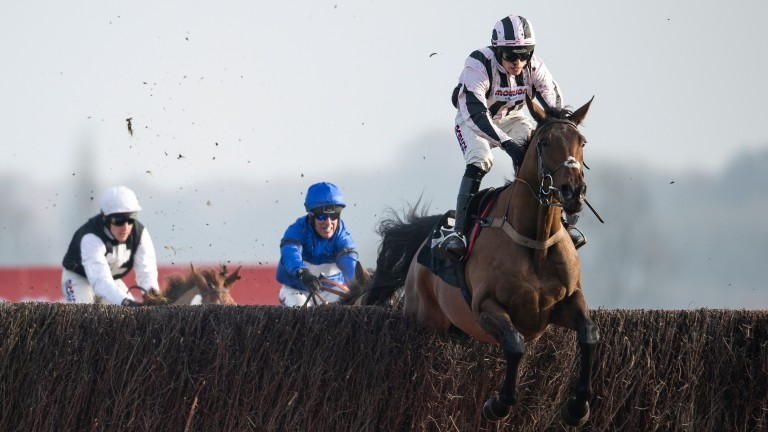 Danny Whizzbang: wears cheekpieces for the first time in this handicap chase