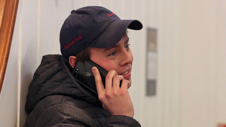 Sam Haggas in action at Tattersalls