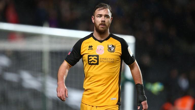 Port Vales striker Tom Pope hit an eight-minute hat-trick against Cheltenham on Saturday