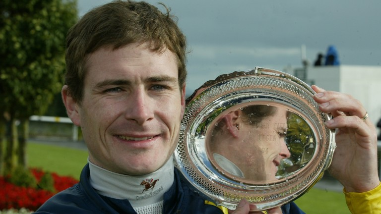 A historic day holding the Irish St Leger trophy following Vinnie Roe's fourth success in 2004