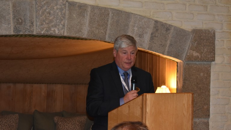 EFTBA chairman Joe Hernon addresses delegates at the meeting