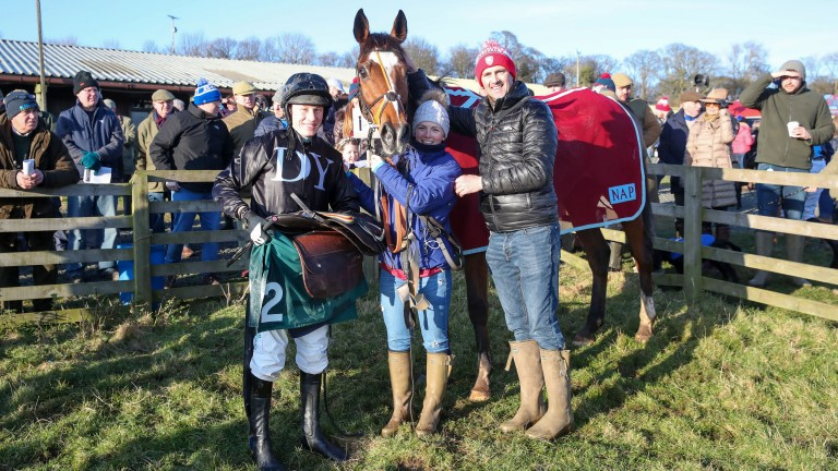 Don Poli with connections after success at Alnwick's point-to-point meeting