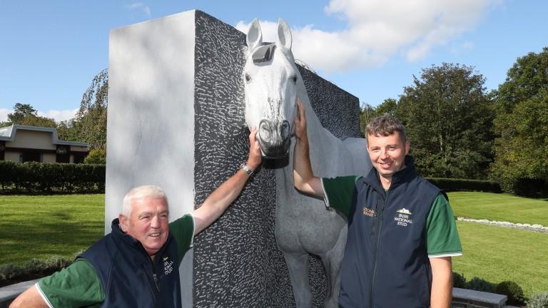 Paul Croke (right) at the Irish National Stud