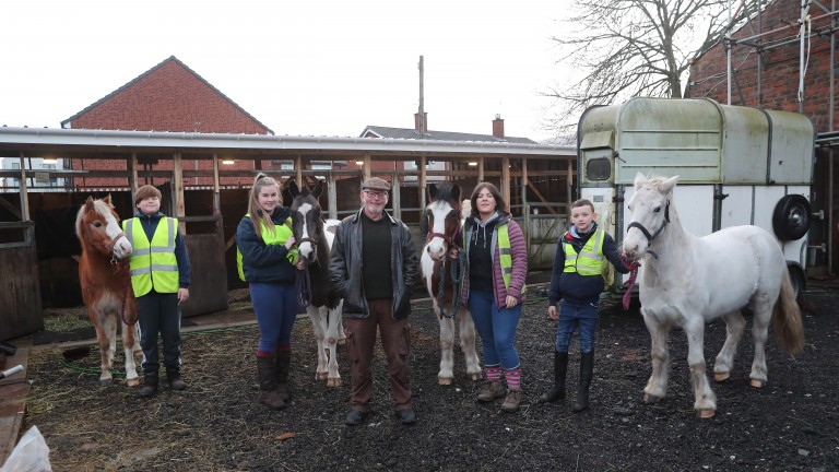 Keith Hackett with ponies and staff at Park Palace
