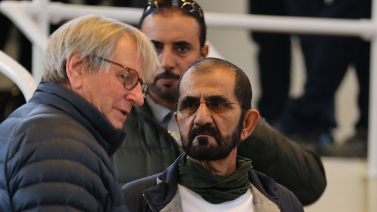 Anthony Stroud and Sheikh Mohammed in discussion