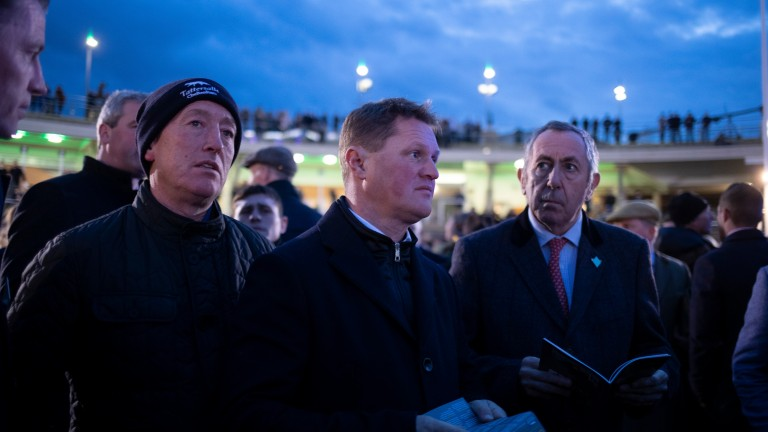 Colin Bowe (centre): seven-times champion Irish point-to-point trainer sold 12 six-figure lots in 2019